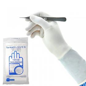 Manusi chirurgicale sterile din latex, pudrate - 1 pereche
