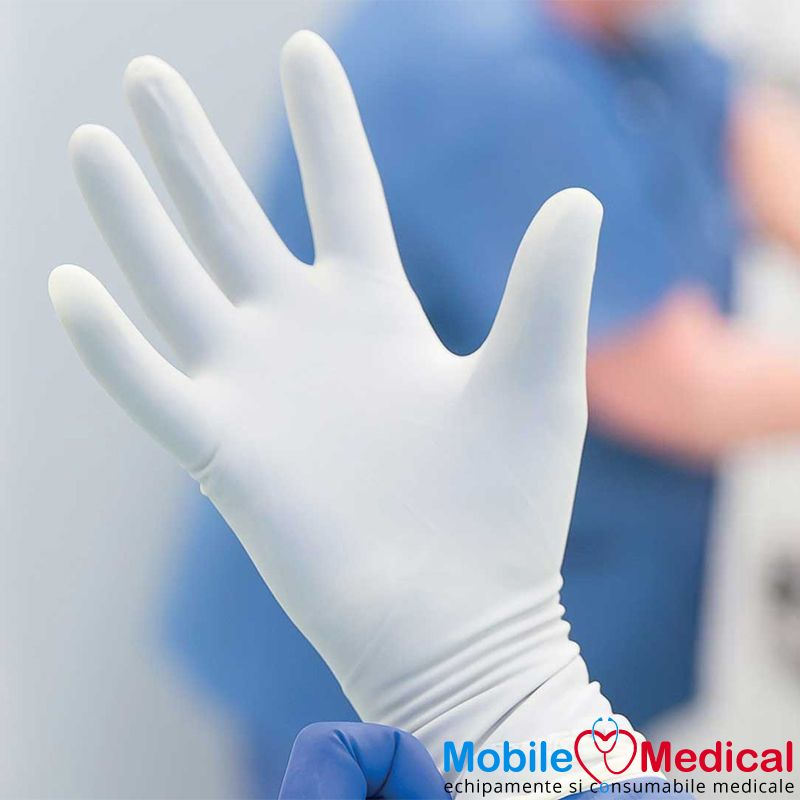 Manusi chirurgicale sterile din latex, nepudrate