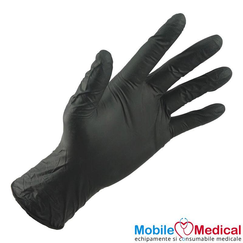 Manusi de examinare din nitril, nepudrate, negre