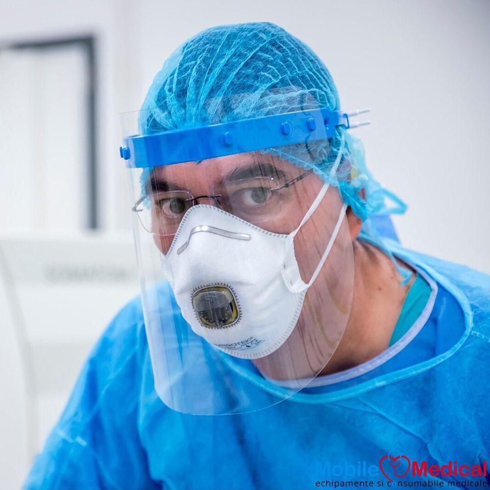 Viziera de protectie faciala reutilizabila, rabatabila si reglabila, uz medical si universal